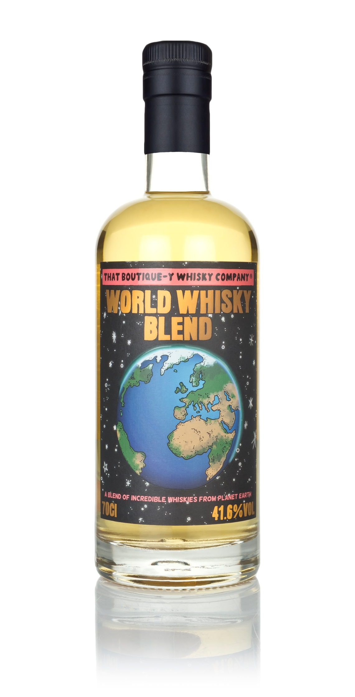 TBWC World Whisky Blend - 70cl pack shot with reflection